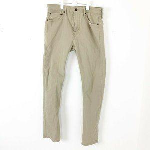 Levi's 510 Slim Jeans Pants Tan Sz  W31 L32